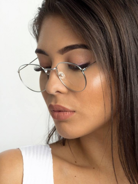 NASIA SILVER CLEAR LENS 01