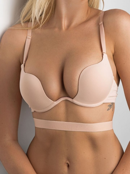 NUDE SUPER CLEAVAGE BRA
