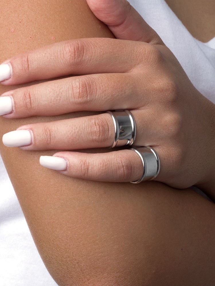 CHARMA SILVER RINGS SET OF 2