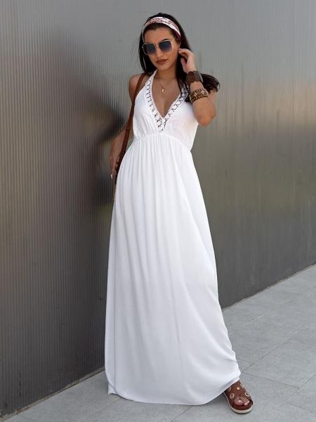 CATRINE WHITE MAXI SUMMER DRESS