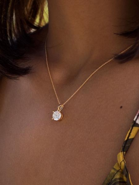 MINIMAL DIAMOND GOLD NECKLACE