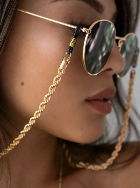 TWISTED CHUNKY GOLD CHAIN FOR SUNGLASSES 01