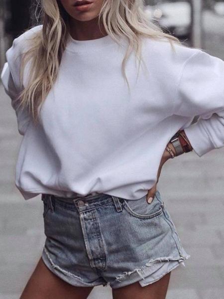 BIANCA WHITE SWEATSHIRT