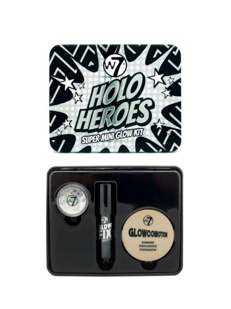 W7 HOLO HEROES GLOW KIT