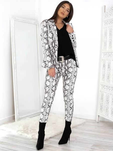 WHITE SNAKE SUIT (TWO PIECE)