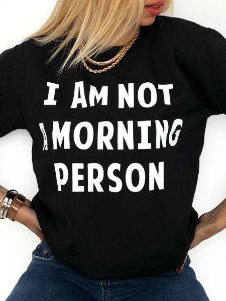 MORNING PERSON BLACK