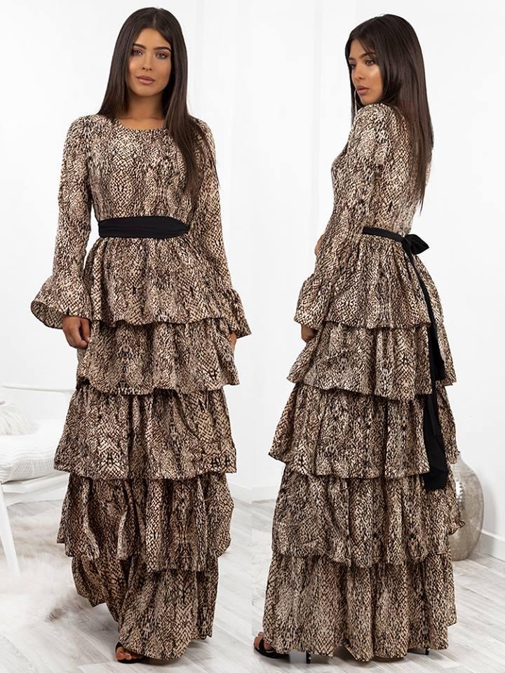 5397dce2913e Fashionroom ELISE MAXI SNAKE PRINT DRESS