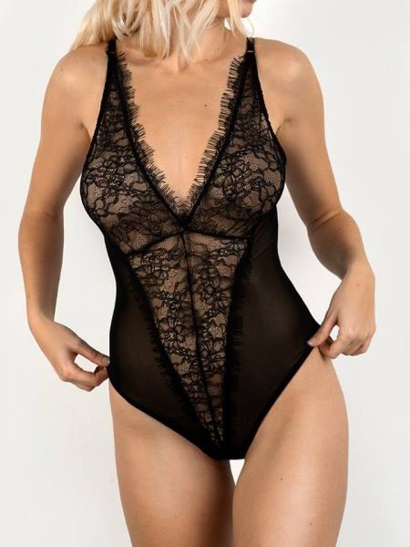GRETA BLACK LACE BODYSUIT