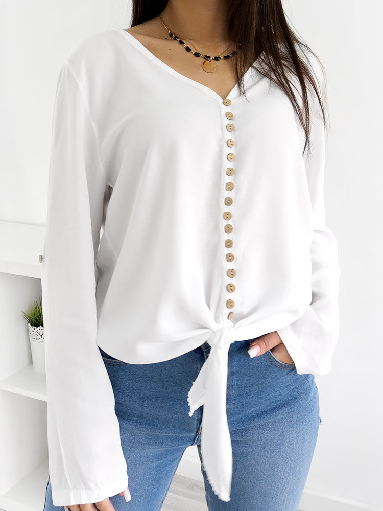 MILES WHITE BUTTONED SHIRT