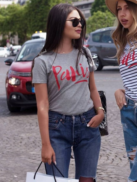 PARIS GREY WITH RED TSHIRT