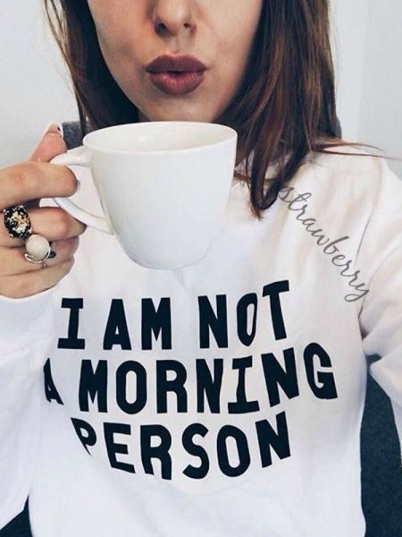 MORNING PERSON WHITE