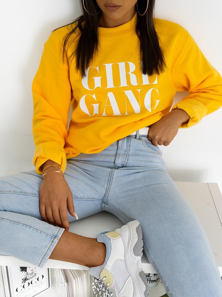 GIRL GANG YELLOW SWEATSHIRT
