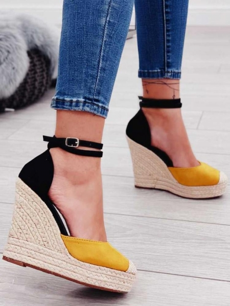 PERUGIA YELLOW & BLACK PLATFORMS