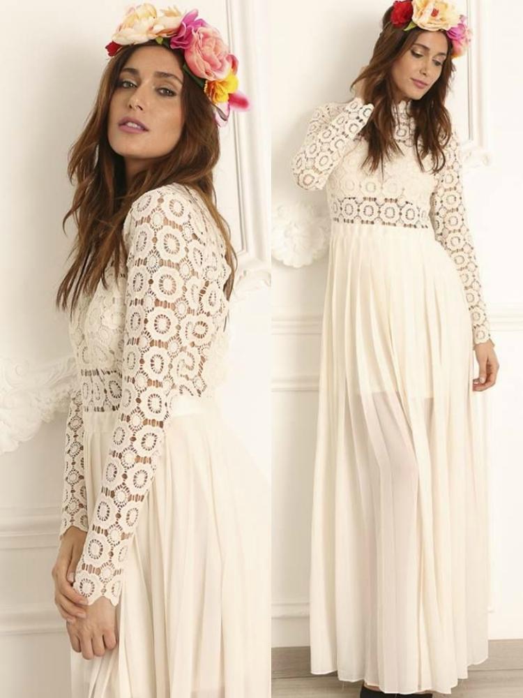 0492a5ba9023 VERA OFF WHITE MAXI DRESS