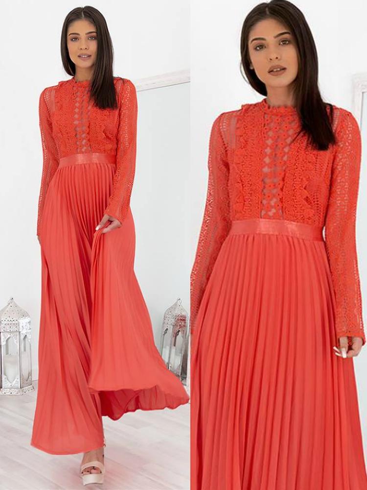 77b8bad790a2 Fashionroom BERTA MAXI CORAL DRESS