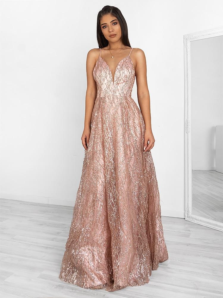 ad48ebcb08ea Fashionroom CINDERELLA DUSTY PINK MAXI DRESS