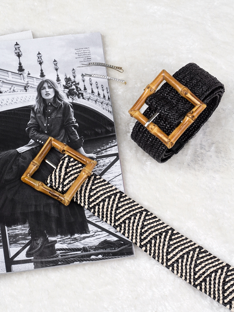 JANE BAMBOO BUCKLE BELT (1 COLORS)