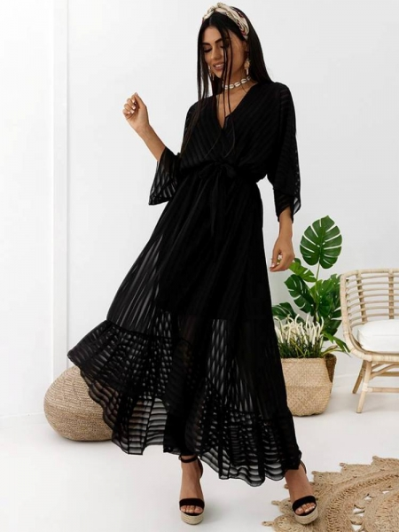 BLACK BREEZE MAXI DRESS