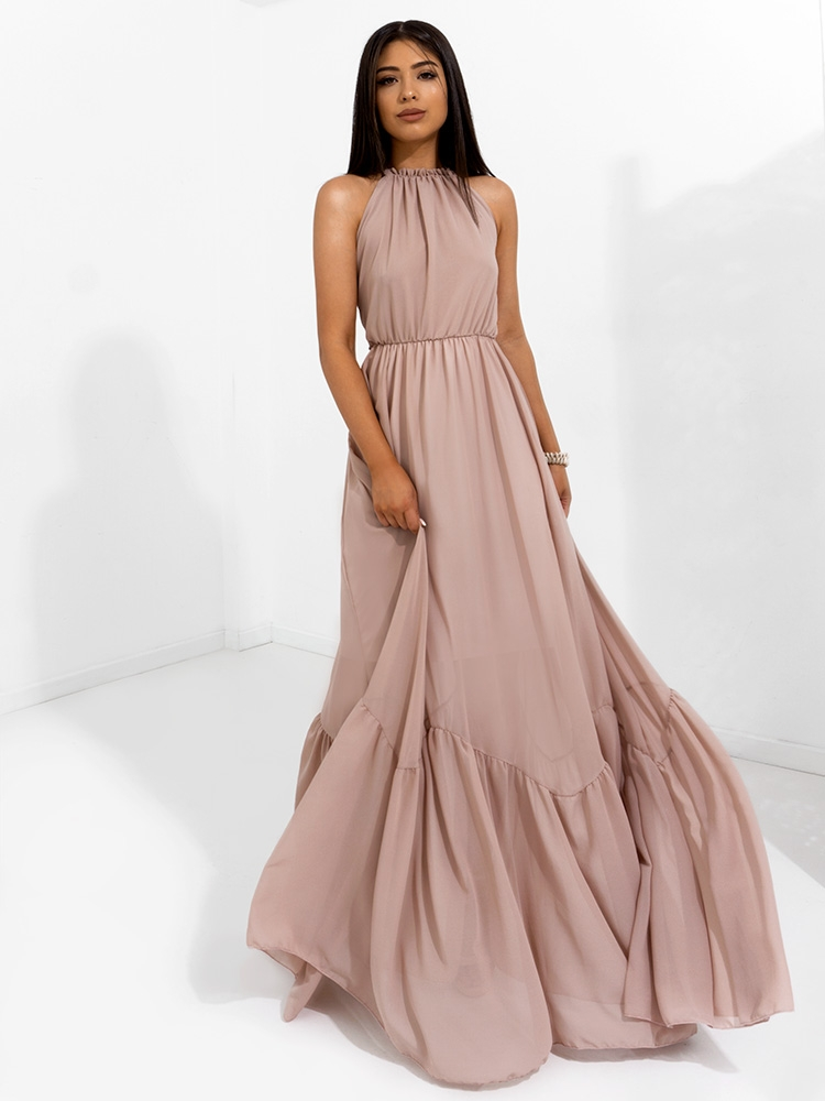 ec6e766794a8 Fashionroom REINA NUDE MAXI DRESS