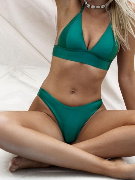 FARAH GREEN METALLIC BIKINI