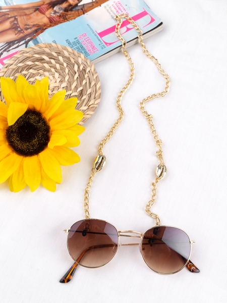 ΑΛΥΣΙΔΑ ΓΥΑΛΙΩΝ GOLD SEASHELL CHAIN FOR SUNNIES