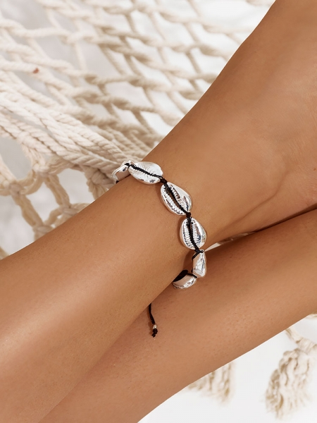 SILVER SEASHELL ANKLET