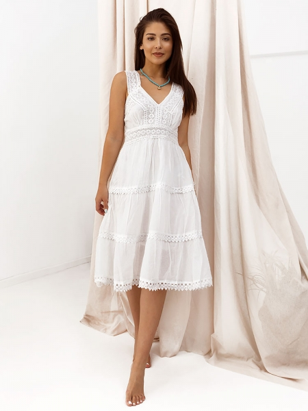 CALCUTA WHITE SUMMER DRESS