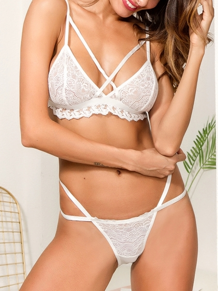 MARISA WHITE LINGERIE SET