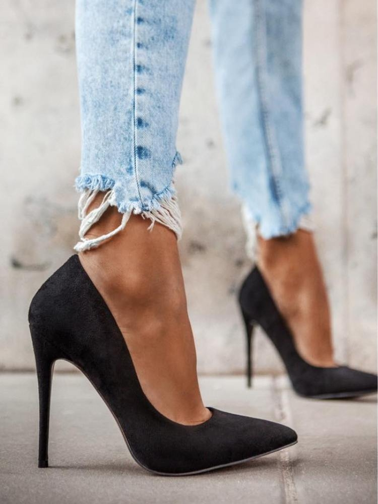 CHICAGO BLACK SUEDE PUMPS