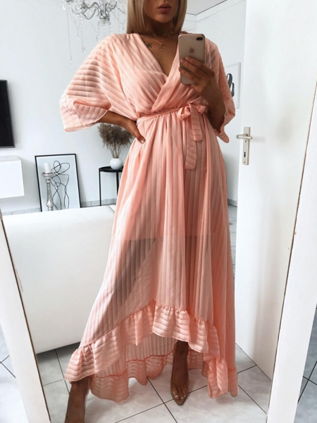 PEACH BREEZE MAXI DRESS