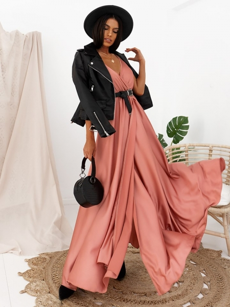 CAMELIA ROSE MAXI SATIN DRESS