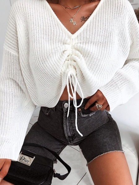 JARMAIN CREAM KNITTED BLOUSE
