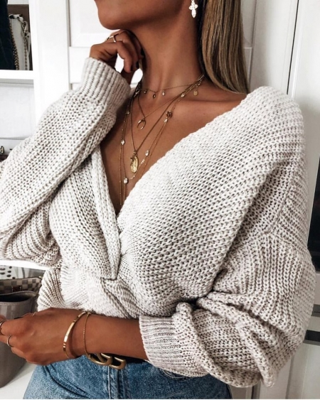 THE KNOT BEIGE PULL