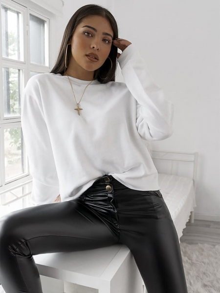 ASH WHITE CROP SWEATSHIRT