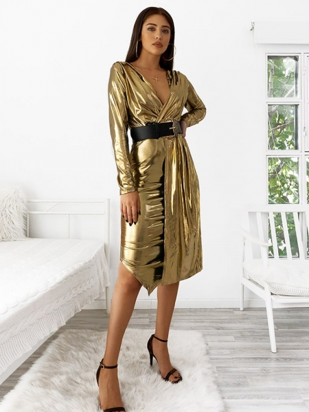 THE GOLD METALLIC PARTY DRESS