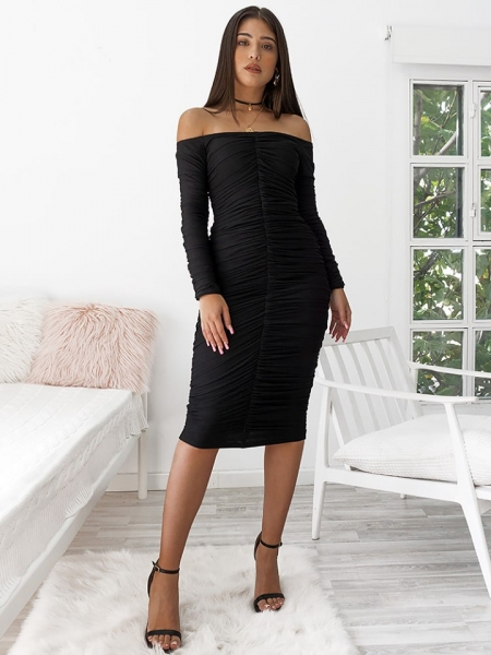 BODYCON TULLE DRESS