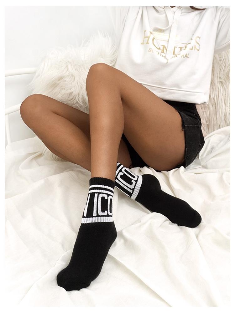 ICON BLACK BASKET SOCKS