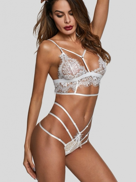 LILIAN WHITE LACE SET