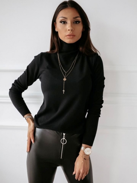 TRISHA BLACK TURTLENECK