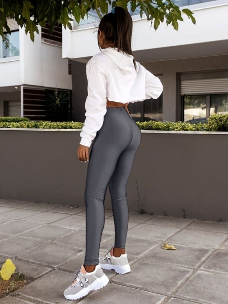 SUPER LYCRA DARK GREY LEGGINGS