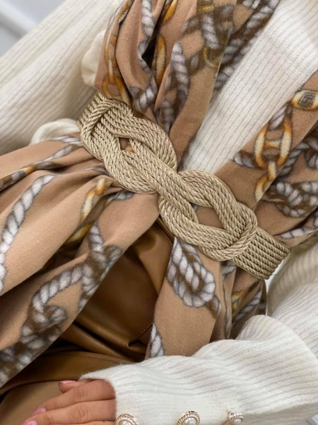 GOLD KNOT BRAID BELT