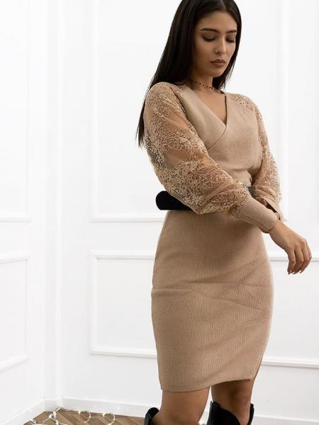 PERGOLA BEIGE KNITTED DRESS