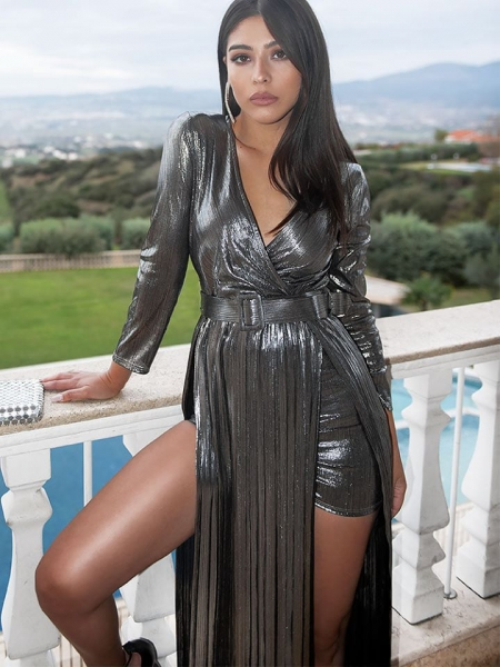 DESDEMONA SILVER MAXI DRESS