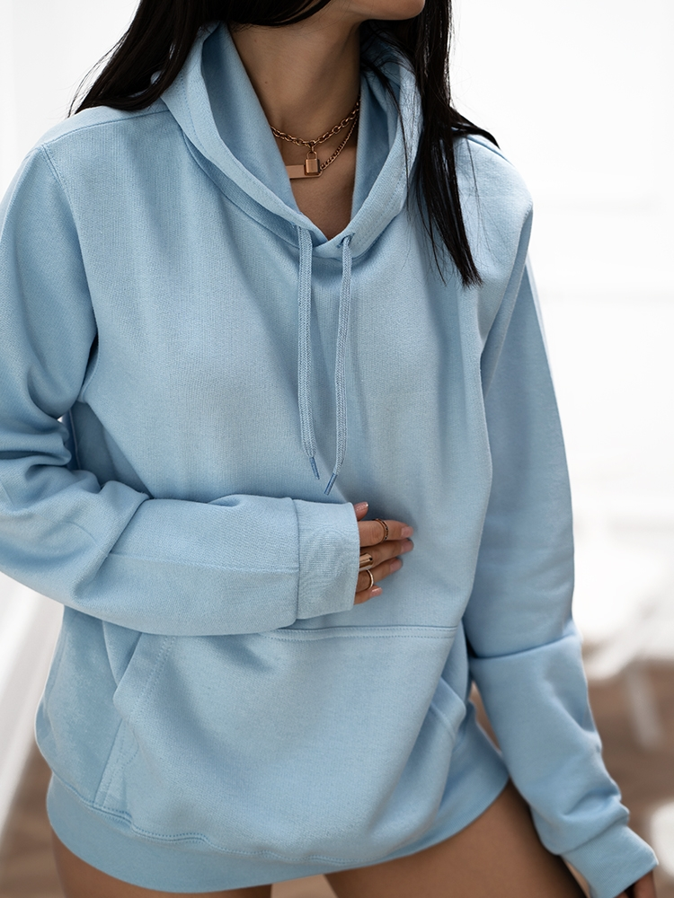 THE BASIC BABY BLUE HOODIE