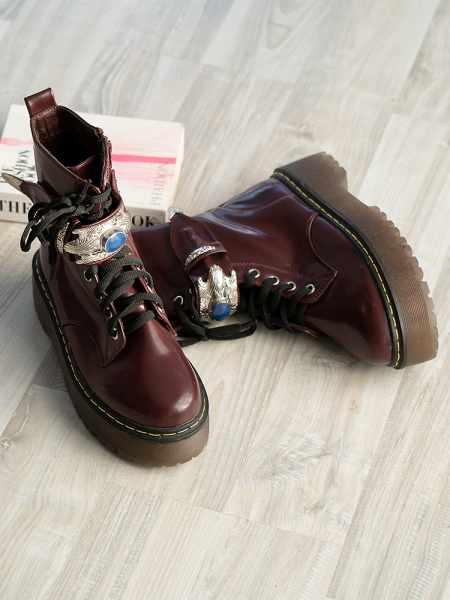DUNKIRK BORDEAUX BOOTIES