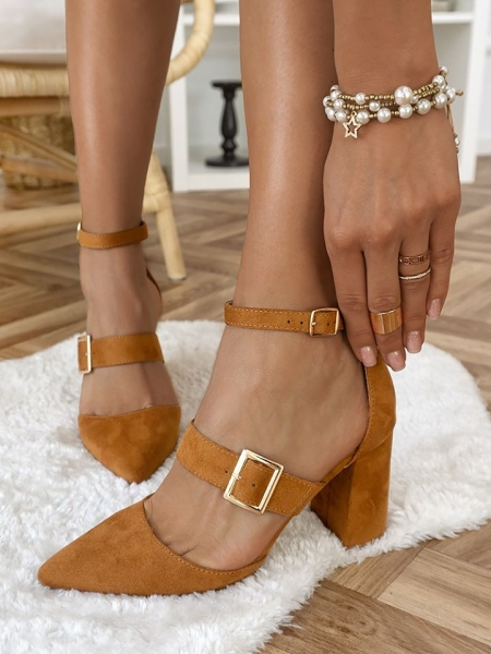 GRACE CAMEL PUMPS