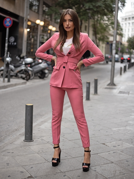 CLAUDIA TOTAL PINK SUIT (TWO-PIECE)