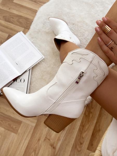 ARIZONA WHITE COWBOY BOOTS