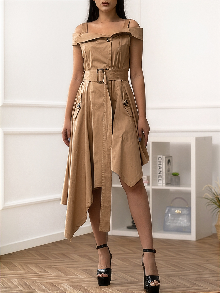 HEATHER CAMEL DRESS