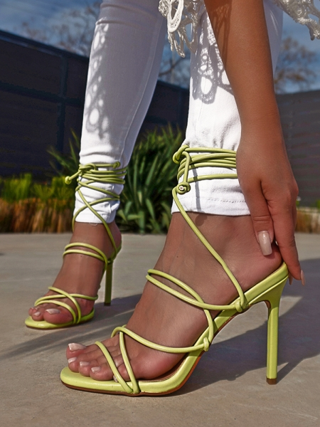 KYLIE LIME STRAP SANDALS